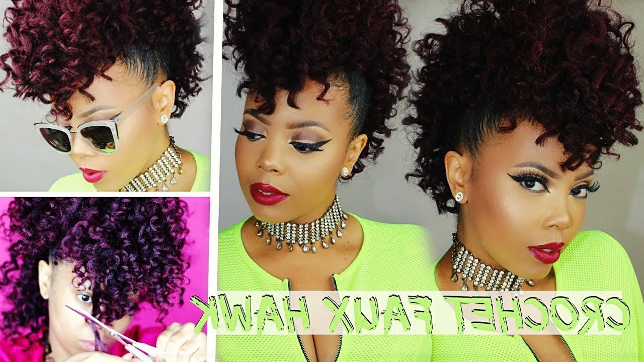 Curly Crochet Faux Hawk Tutorial 4C Natural Hair Style (View 4 of 20)
