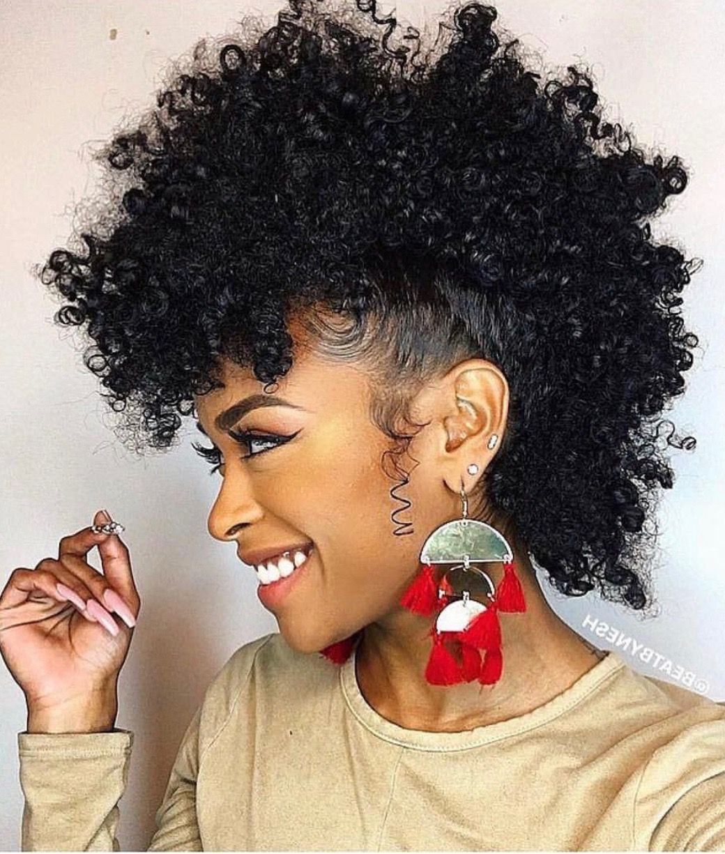 Curly Hair Styles Inside Famous Medium Length Hair Mohawk Hairstyles (View 5 of 20)