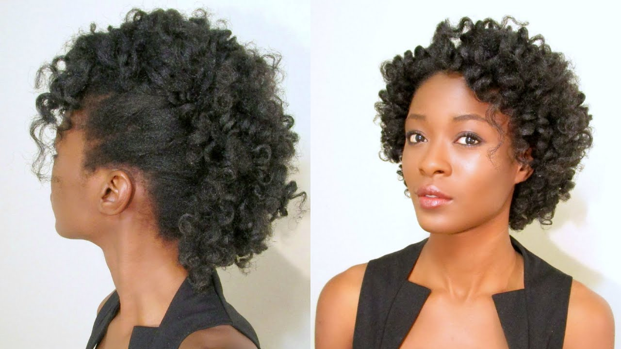 Curly Mohawk/ Frohawk On Natural Hair & Spoolies Giveaway (closed) Throughout Favorite Natural Curly Hair Mohawk Hairstyles (View 18 of 20)