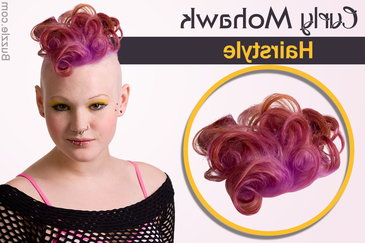 Curly Mohawk Hairstyle: Punk Up Your Look! Within Fashionable Punk Mohawk Updo Hairstyles (View 10 of 20)