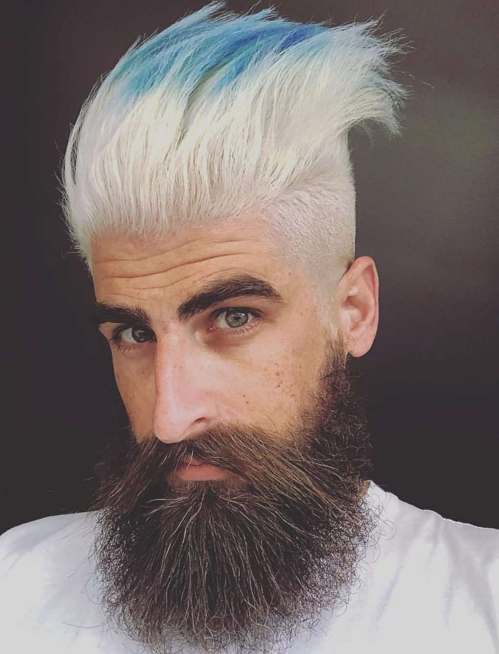 Current Blue Hair Mohawk Hairstyles With Show Off Your Dyed Hair: 10 Colorful Men's Hairstyles (View 7 of 20)
