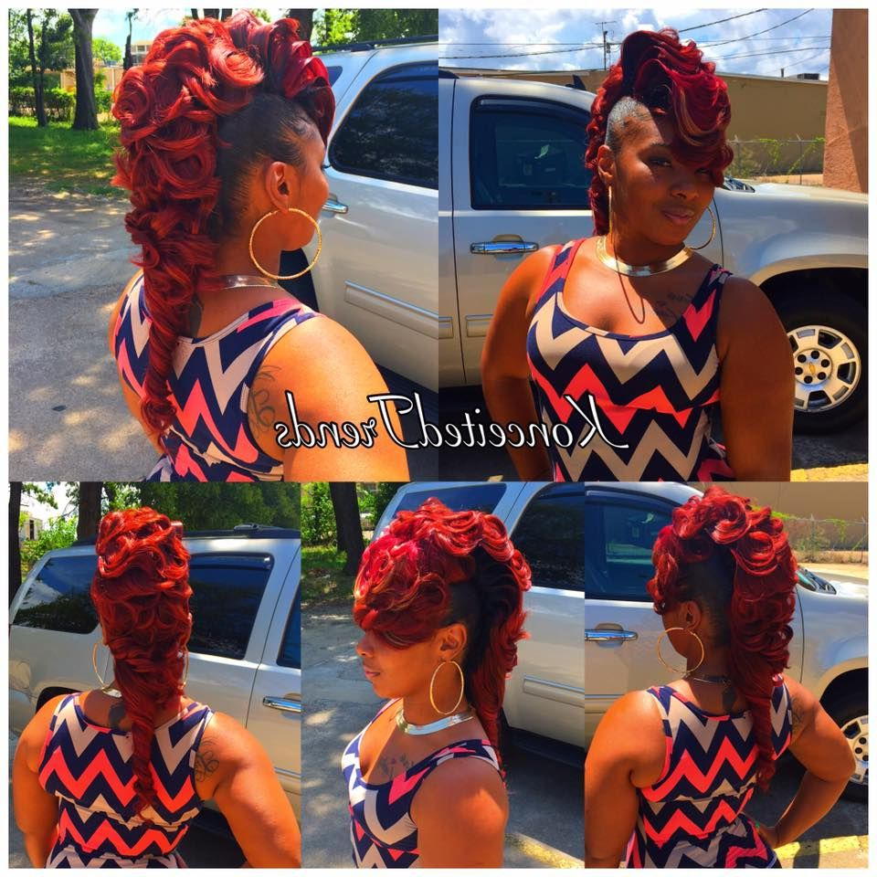 Current Curly Red Mohawk Hairstyles Within Princess Crown Braid: One Of The Best Updated Version For (View 17 of 20)