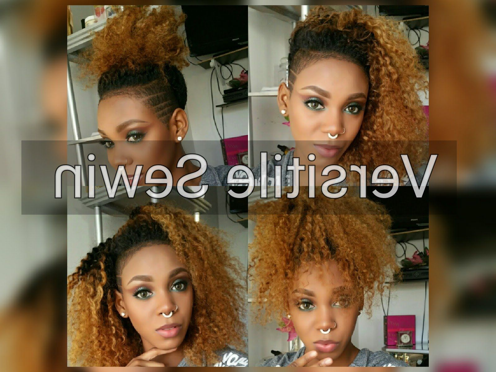 Current Feminine Curls With Mohawk Haircuts With Sew In Weave For Shaved Sides (View 14 of 20)