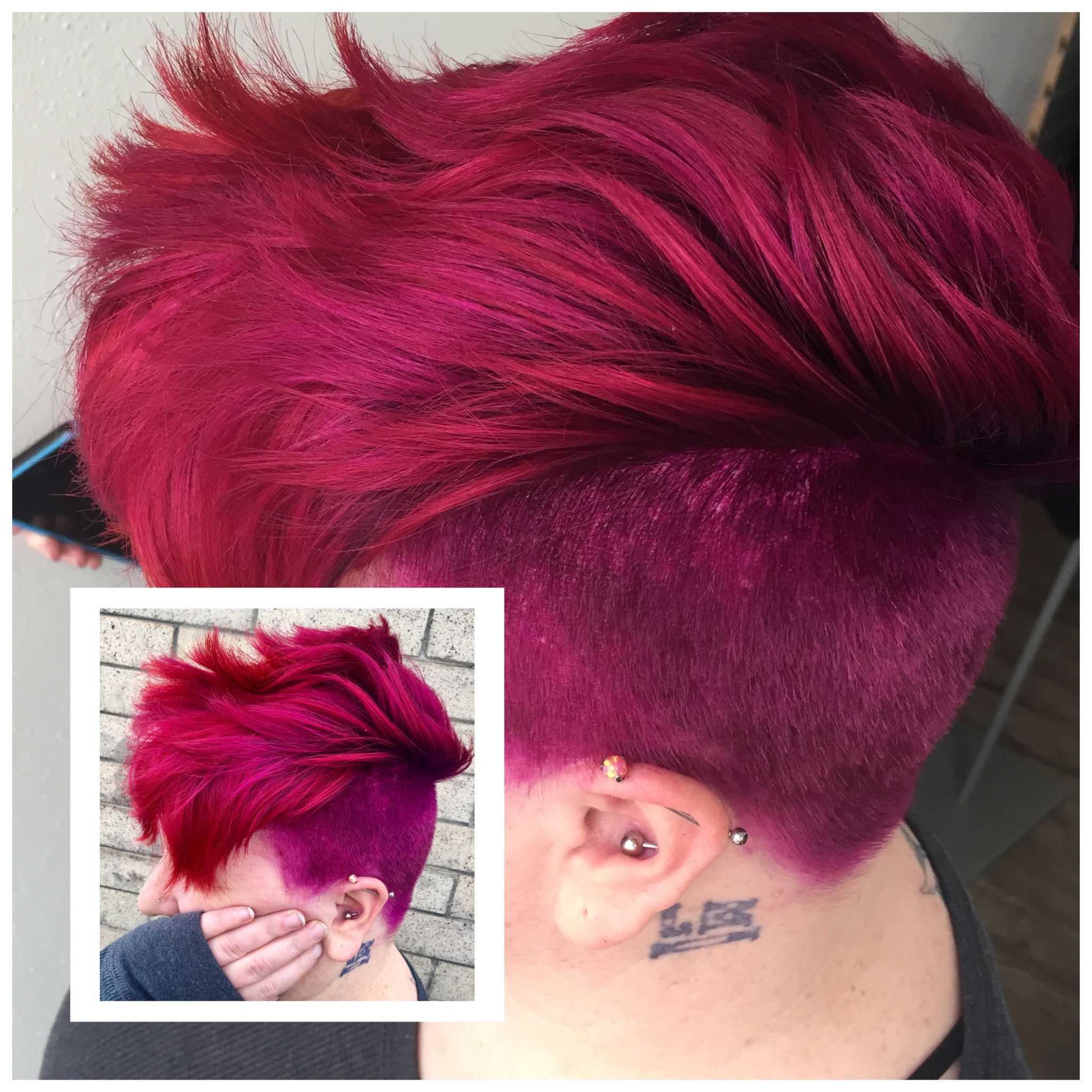 Custom Mixed Color Melt Magenta Violet Red Pink Mohawk (View 5 of 20)