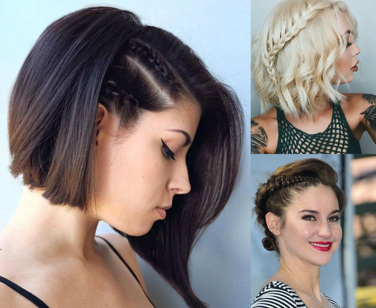 Cutest Braids For Short Hair To Try Today | Hairdrome Intended For Pretty Short Bob Haircuts With Braid (View 19 of 20)