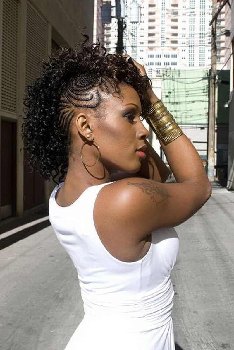 Download Long Mohawk Intended For Popular Braids And Curls Mohawk Hairstyles (View 6 of 20)