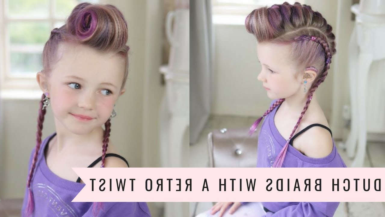 Dutch Braids With A Retro Twist🍥sweethearts Hair Throughout Well Known Victory Roll Mohawk Hairstyles (Gallery 17 of 20)