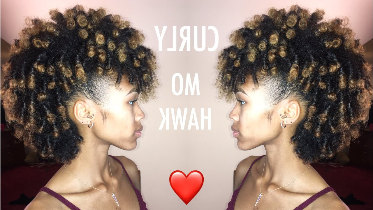 Easy Curly Mohawk On Natural Hair Throughout Latest Curly Weave Mohawk Haircuts (Gallery 16 of 20)