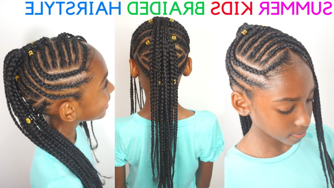 Famous Box Braids Mohawk Hairstyles Throughout Kids Braided Hairstyles Tutorial (View 17 of 20)