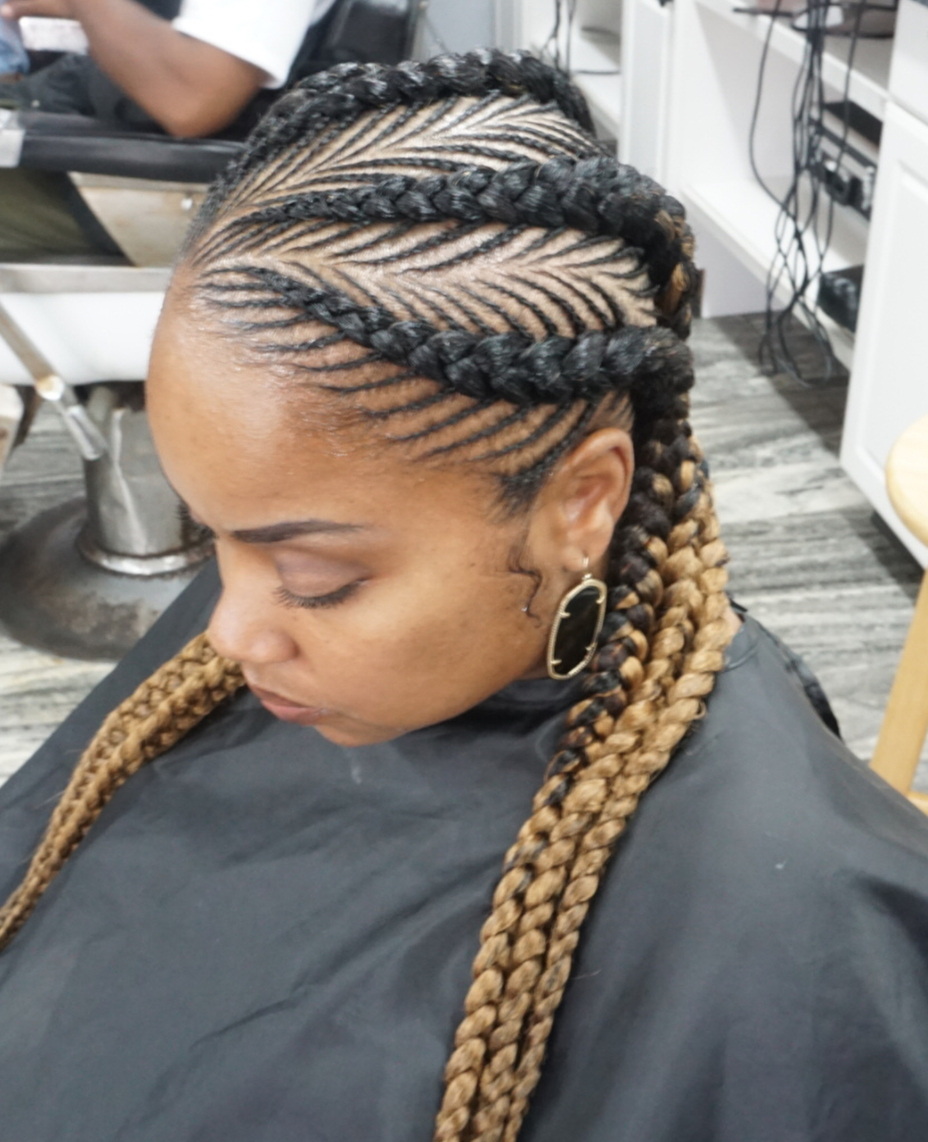 Famous Fully Braided Mohawk Hairstyles Throughout 30 Fishbone Braid Hairstyles (Gallery 11 of 20)
