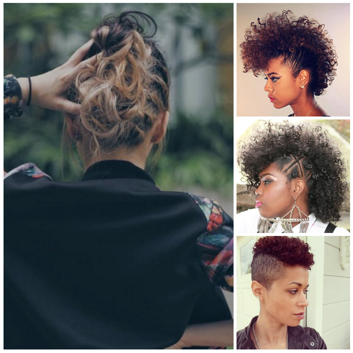 Famous Mohawk Haircuts On Curls With Parting Pertaining To Curly Mohawk Hairstyles For Women (View 7 of 20)