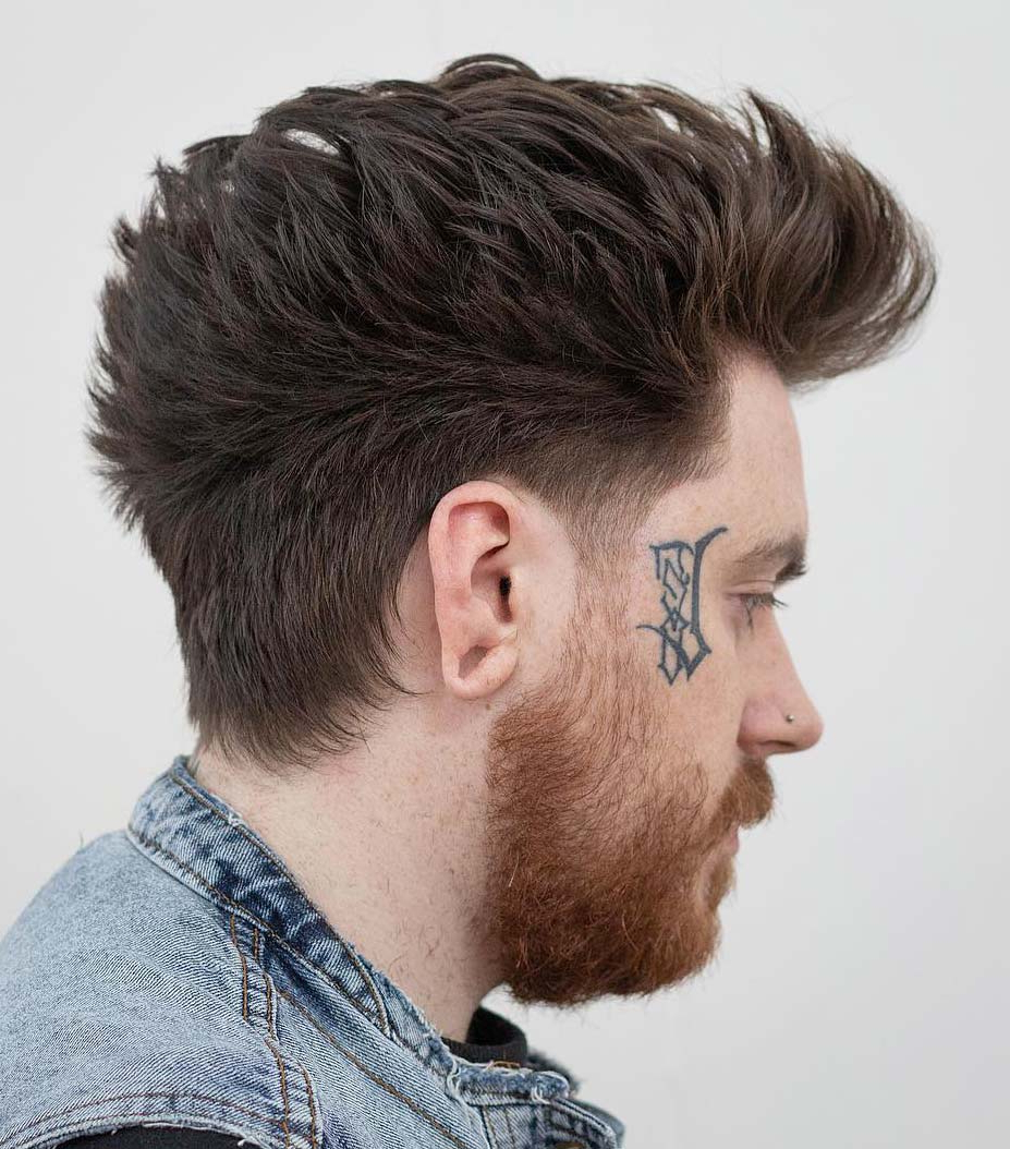 Famous Short And Curly Faux Mohawk Hairstyles Throughout 20 Modern Faux Hawk (Aka (View 9 of 20)