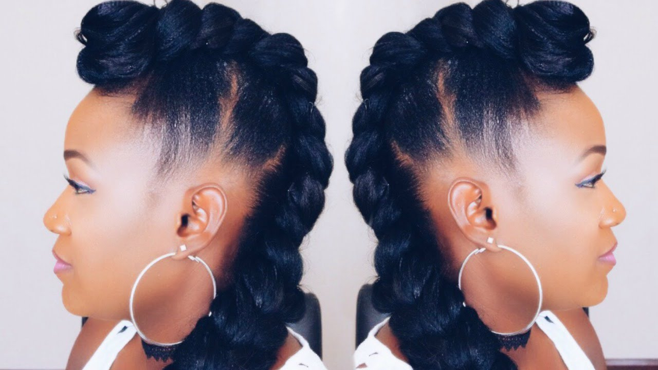 Fashionable Braided Mohawk Bun Hairstyles In Quick Braided Mohawk Updo On Short Hair (View 4 of 20)