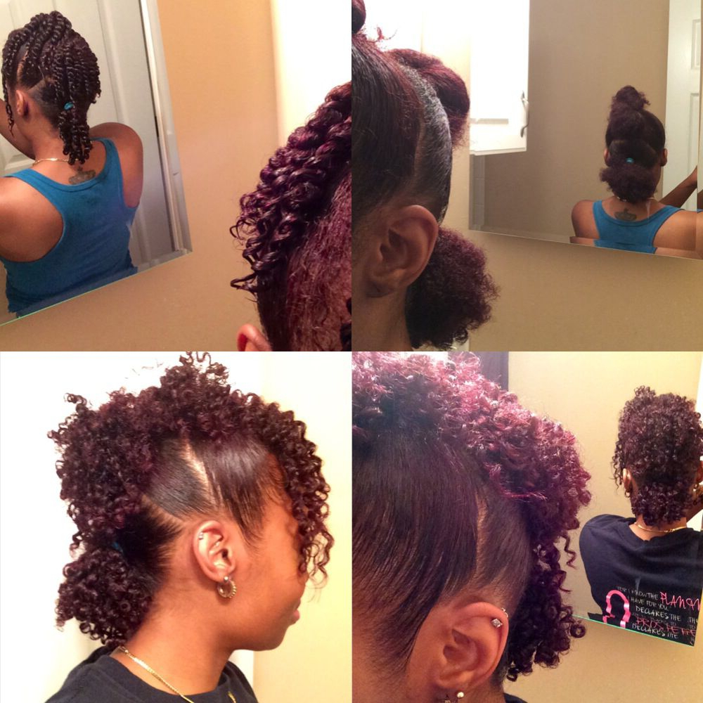 Favorite Big Curly Updo Mohawk Hairstyles Intended For 3 Ponytail Mohawk + Twist Out On Natural Hair (Gallery 9 of 20)