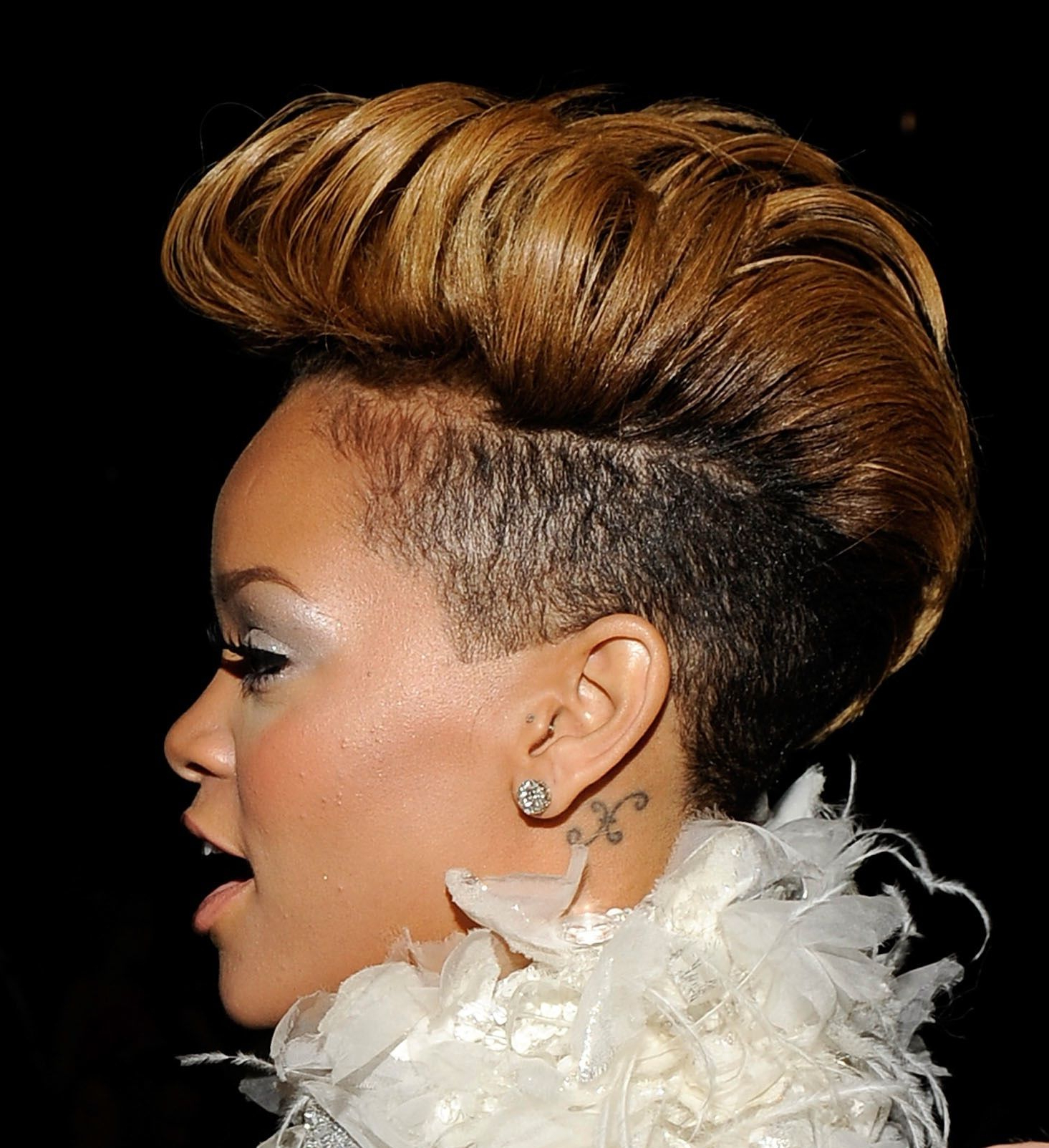 Favorite Rihanna Black Curled Mohawk Hairstyles For Hairstyles : Mohawk Rihanna Hair Cut Pinterest Styles (View 6 of 20)