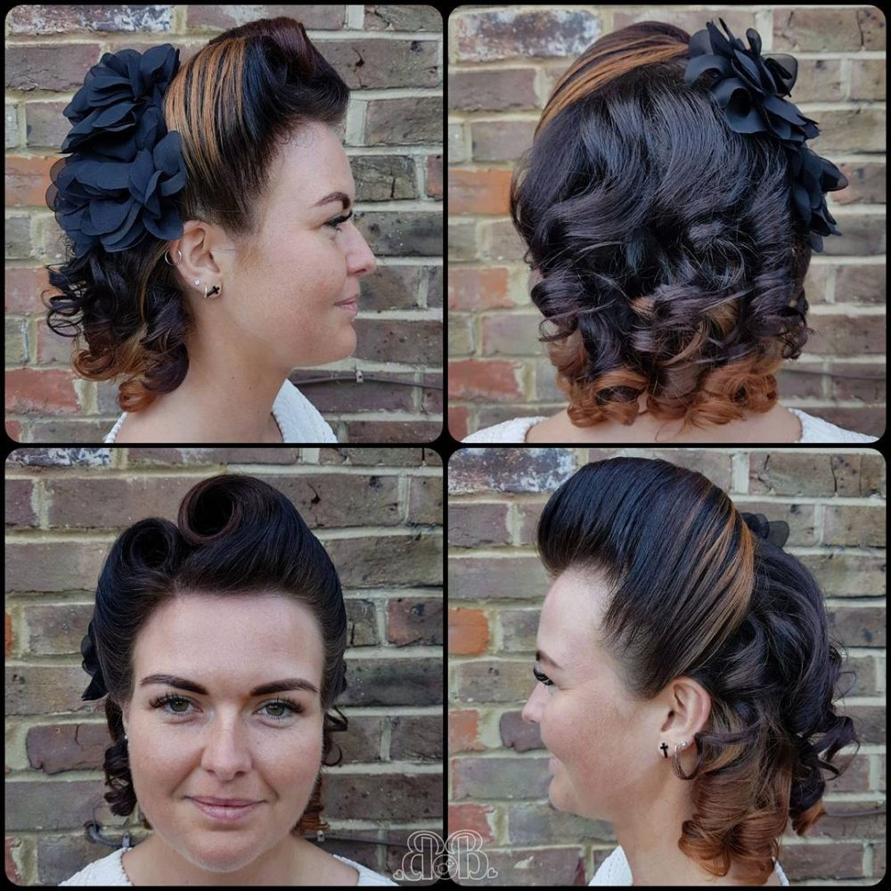 """Favorite Victory Roll Mohawk Hairstyles With Regard To 42 Pin Up Hairstyles That Scream """"retro Chic"""" (Tutorials (View 8 of 20)"""
