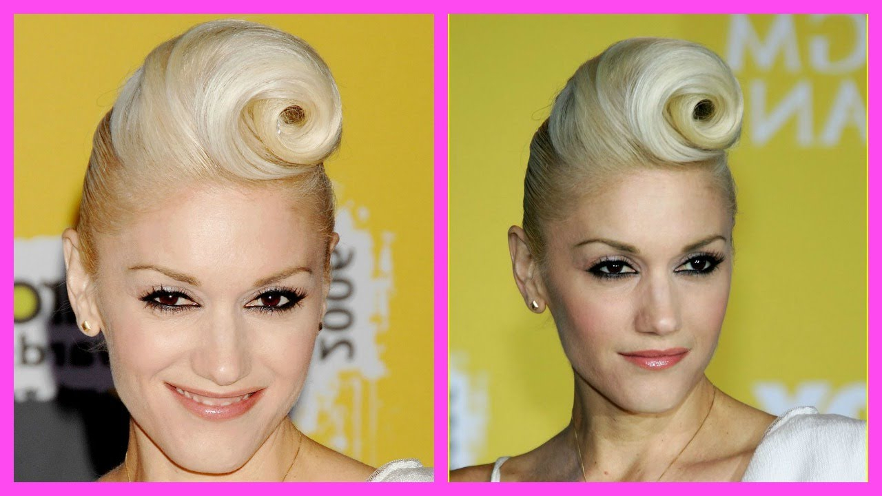Gwen Stefani Hair Tutorial With Annemarie Inside Widely Used Victory Roll Mohawk Hairstyles (View 4 of 20)
