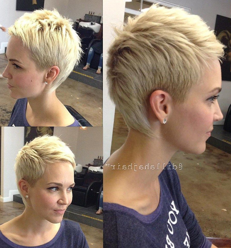 Hair Cuts : Remarkable Short Pixie Haircuts Haircut Images Intended For Blonde Pixie Haircuts With Curly Bangs (View 17 of 20)