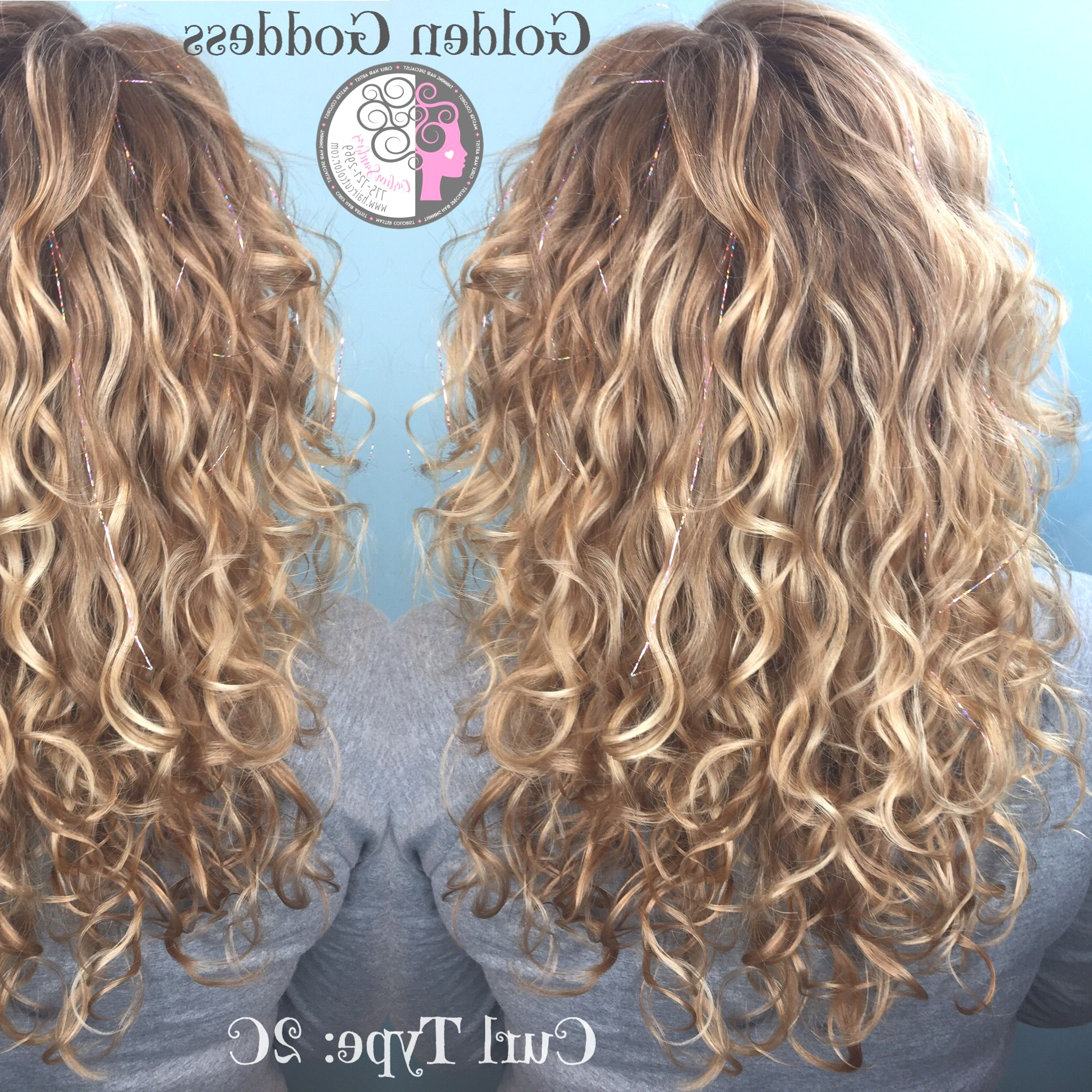 Hairstyles : Blonde Highlights Curly Hair Surprising Pertaining To Curls And Blonde Highlights Hairstyles (View 11 of 20)