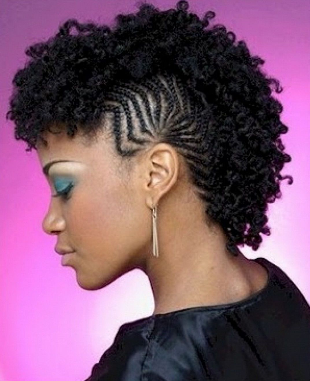 Hairstyles Pertaining To Current Natural Curls Mohawk Hairstyles (View 11 of 20)
