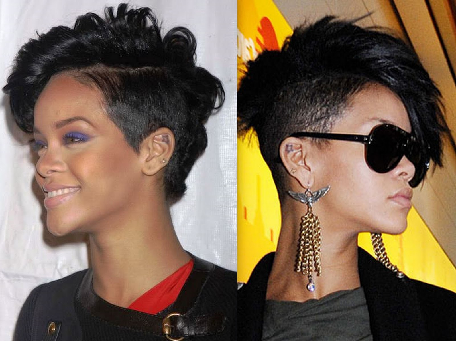 Hairstylesblack Women Weave Rihanna Mohawk With Well Known Rihanna Black Curled Mohawk Hairstyles (View 10 of 20)