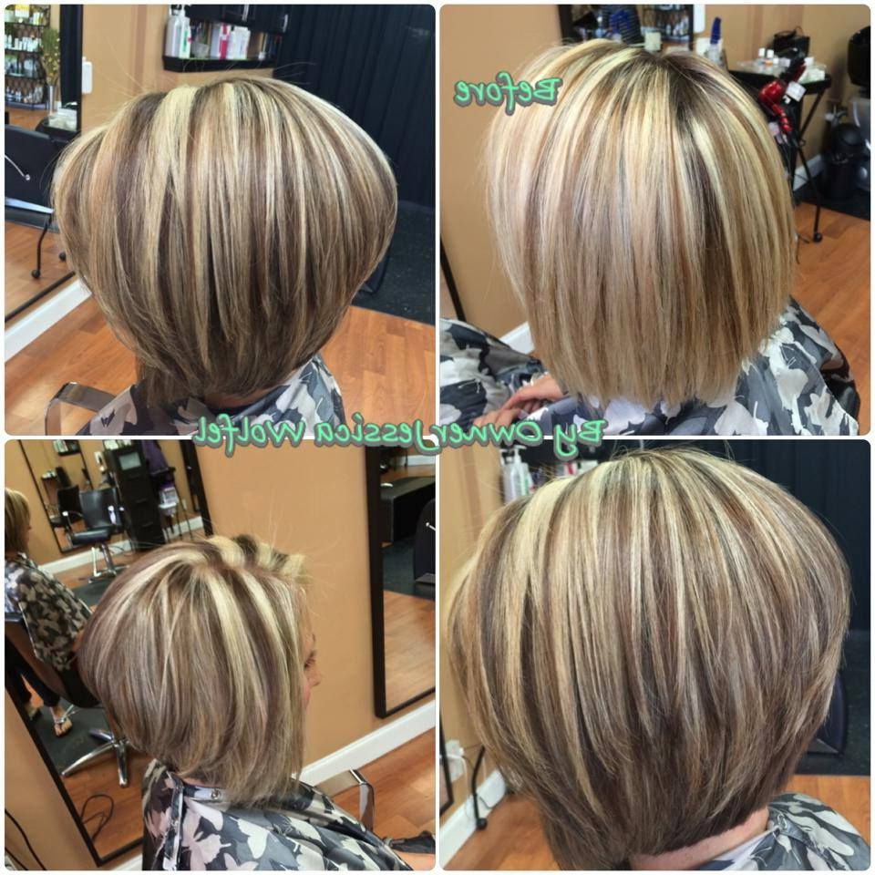 Highlight Lowlights Assymetrical Bob | Hair In 2019 | Short Intended For Highlighted Short Bob Haircuts (View 13 of 20)