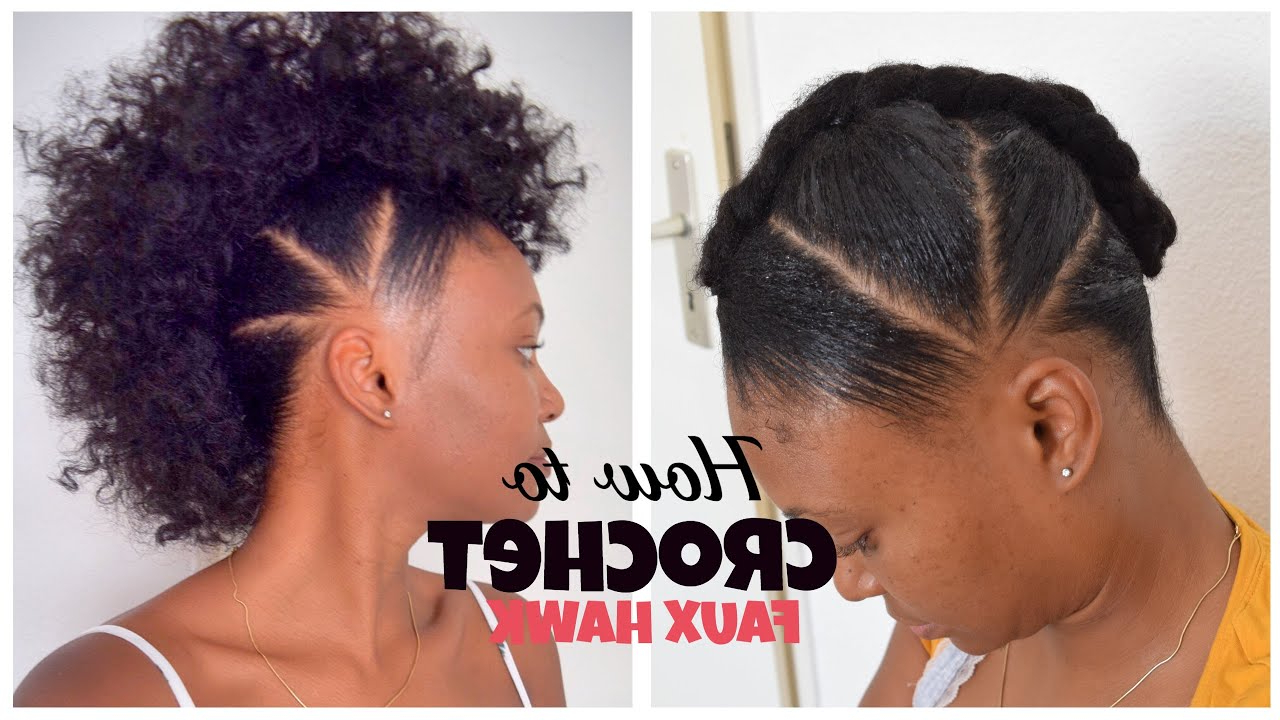 How To Crochet Faux Hawk With Overthetophaircollection In 2020 Faux Mohawk Hairstyles With Natural Tresses (View 9 of 20)
