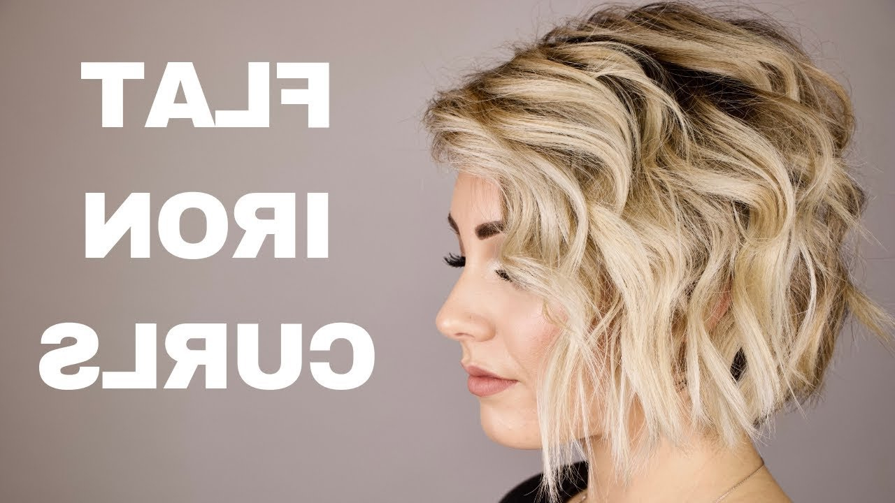 How To Curl With A Flat Iron || Short Hair With Pixie Haircuts With Large Curls (View 13 of 20)