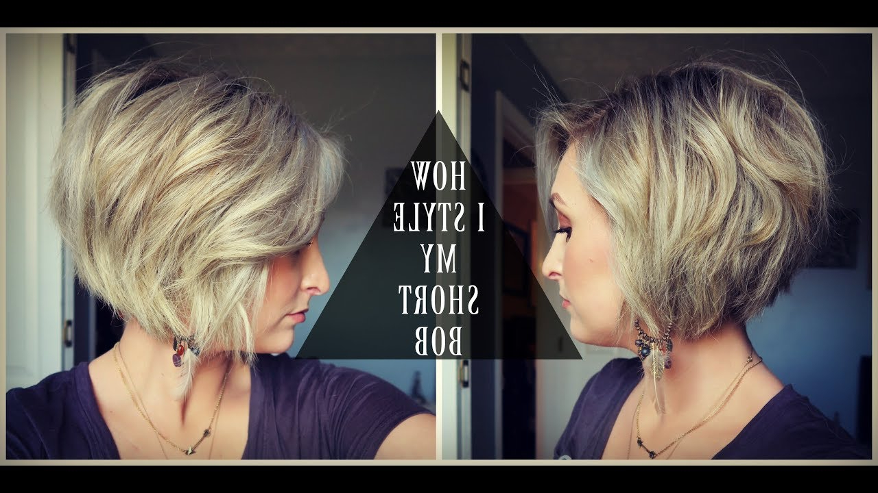 How To Style A Short Bob! | Textured & Voluminous Hair | Summer Whitfield Regarding Voluminous Short Bob Haircuts (View 13 of 20)
