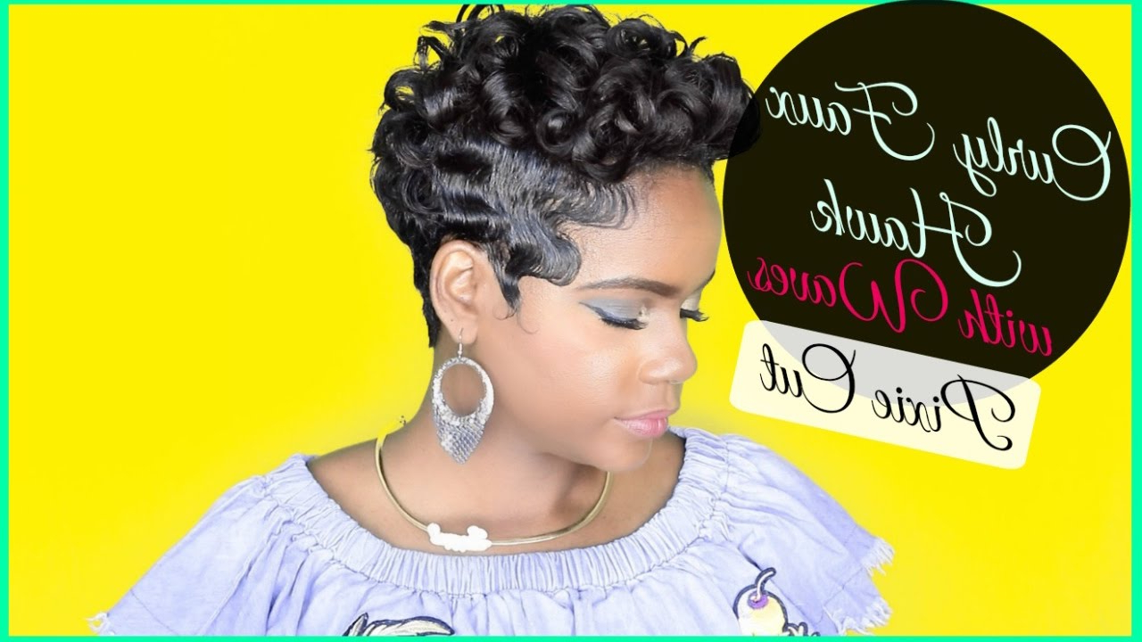 How To Style: Pixie Curly Faux Hawk With Waves | Relaxed Short Hair | Hair Tutorial | Leann Dubois Within Short Pixie Haircuts With Relaxed Curls (View 10 of 20)