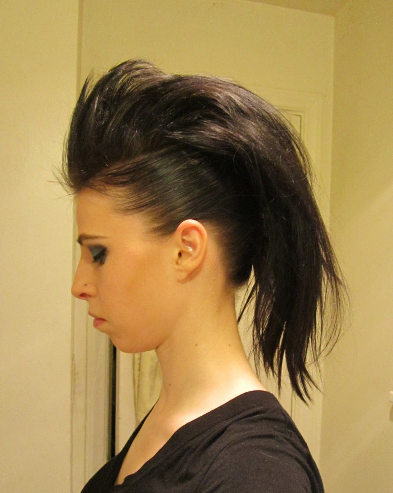 Inspired Xpression: How To Make A Mohawk With Long Hair Regarding Favorite Long Hair Roll Mohawk Hairstyles (Gallery 12 of 20)