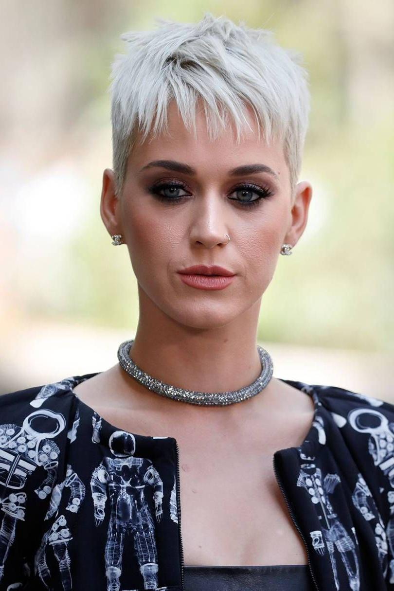 Katy Perry Reveals The Real Reason She Cut Her Hair | Katey Regarding Glamorous Pixie Hairstyles (Gallery 15 of 20)