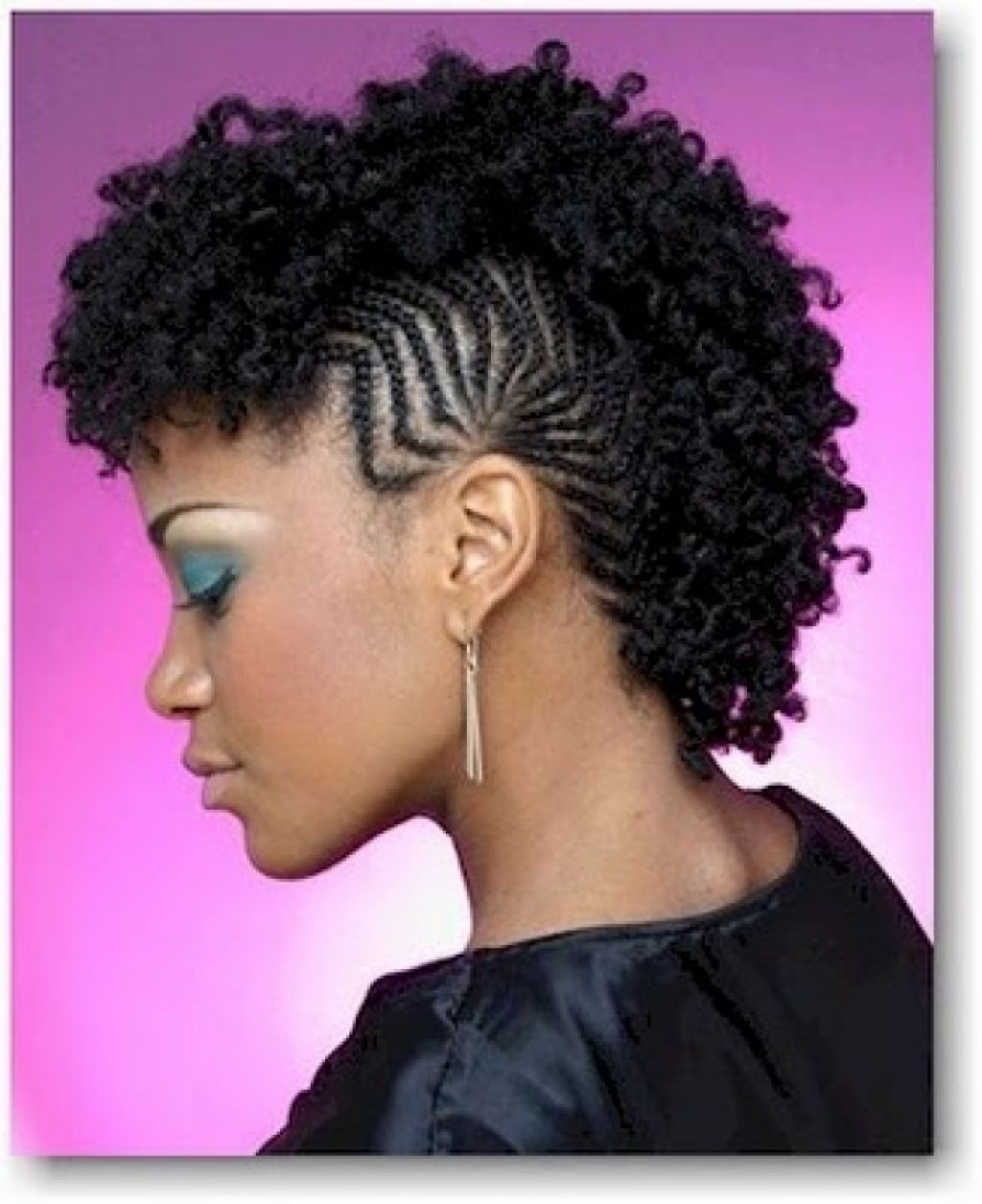 Latest Afro Mohawk Hairstyles For Women Throughout Hairstyles : African Fishtail Braids Styles Mohawk Braid (View 11 of 20)