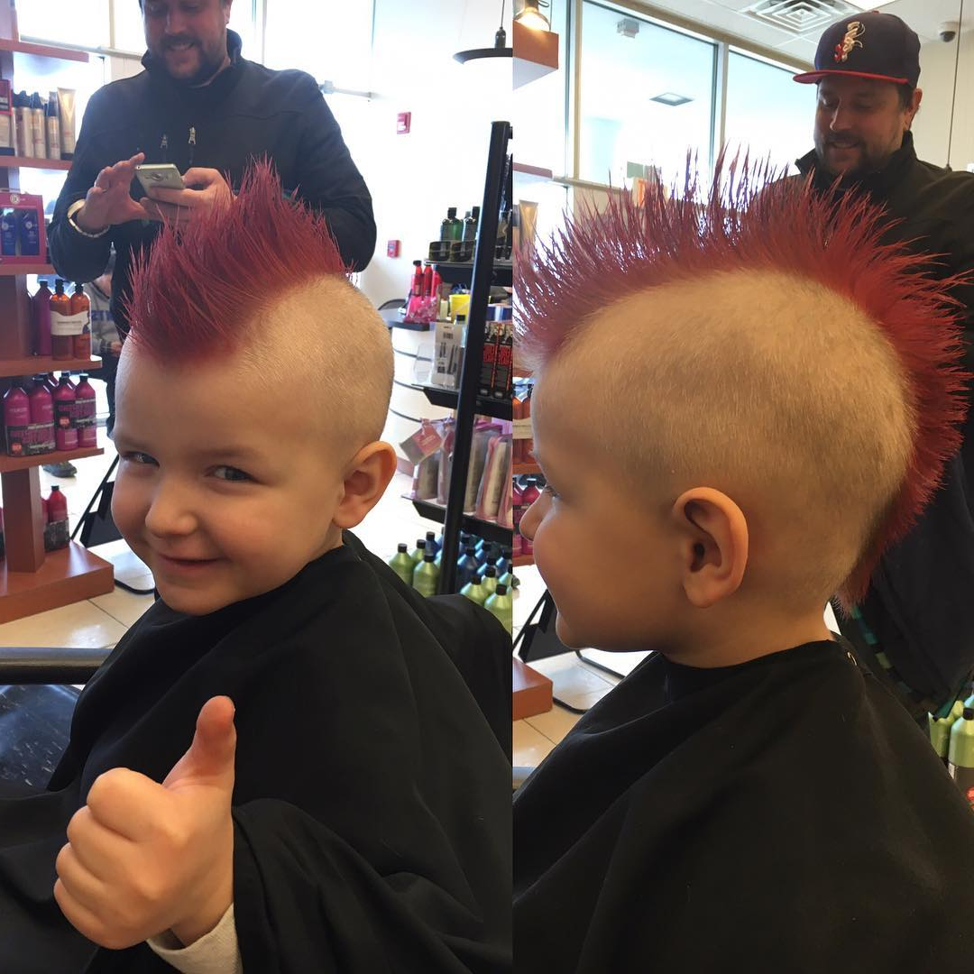 Latest Hot Red Mohawk Hairstyles Inside 26+ Edgy Mohawks Hairstyles For Kids (View 11 of 20)