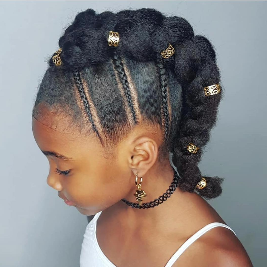 Latest Punk Mohawk Updo Hairstyles Pertaining To Braided Mohawk Updo For Black Girls – Click (View 11 of 20)