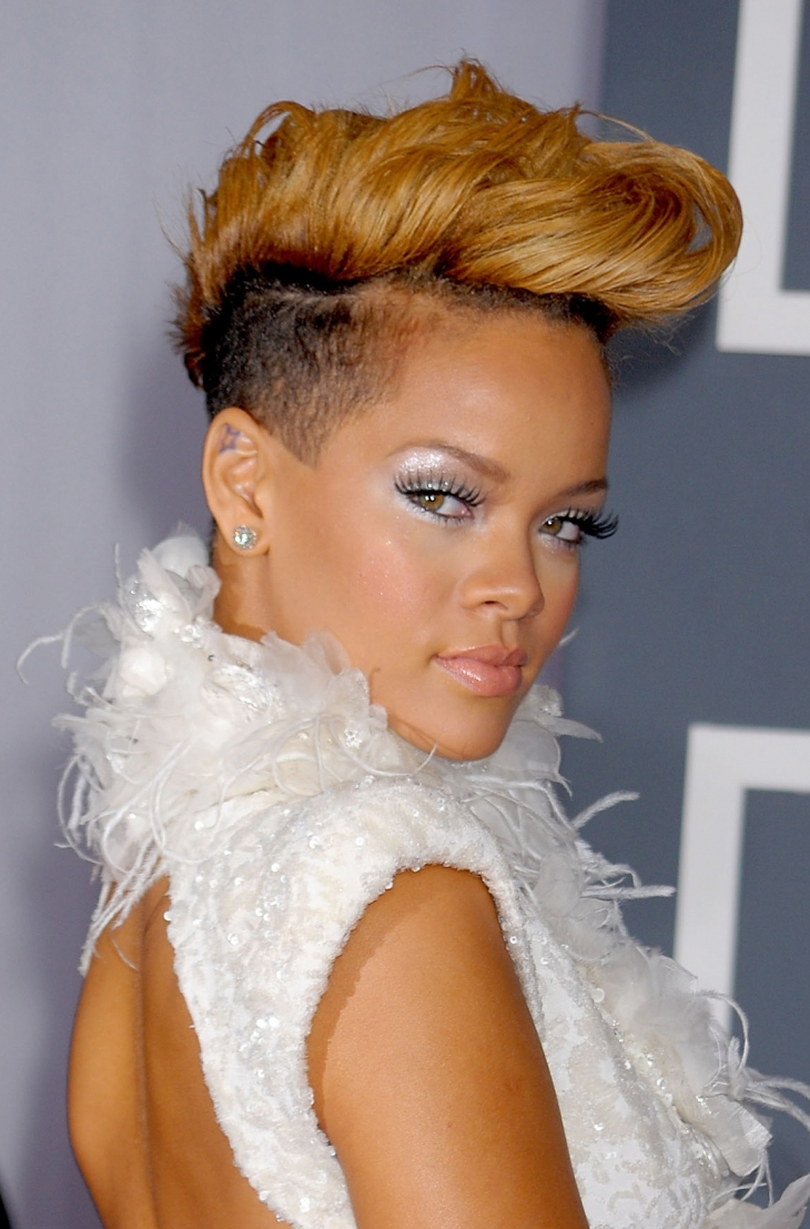 Latest Rihanna Black Curled Mohawk Hairstyles Within 22+ Mohawk Haircut Ideas, Designs (View 12 of 20)