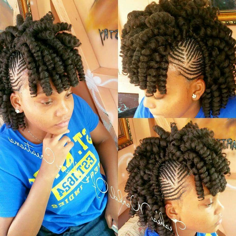 Latest Twist Braided Mohawk Hairstyles With Crochet Done With New Afro Twist Braid With Braided Sides (View 18 of 20)