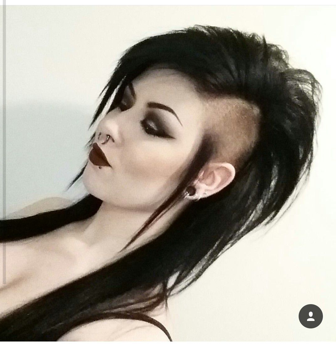 Long Hair Shaved Sides Long Mohawk Gothic Punk Hairstyles Inside 2020 Long Hair Mohawk Hairstyles With Shaved Sides (View 11 of 20)