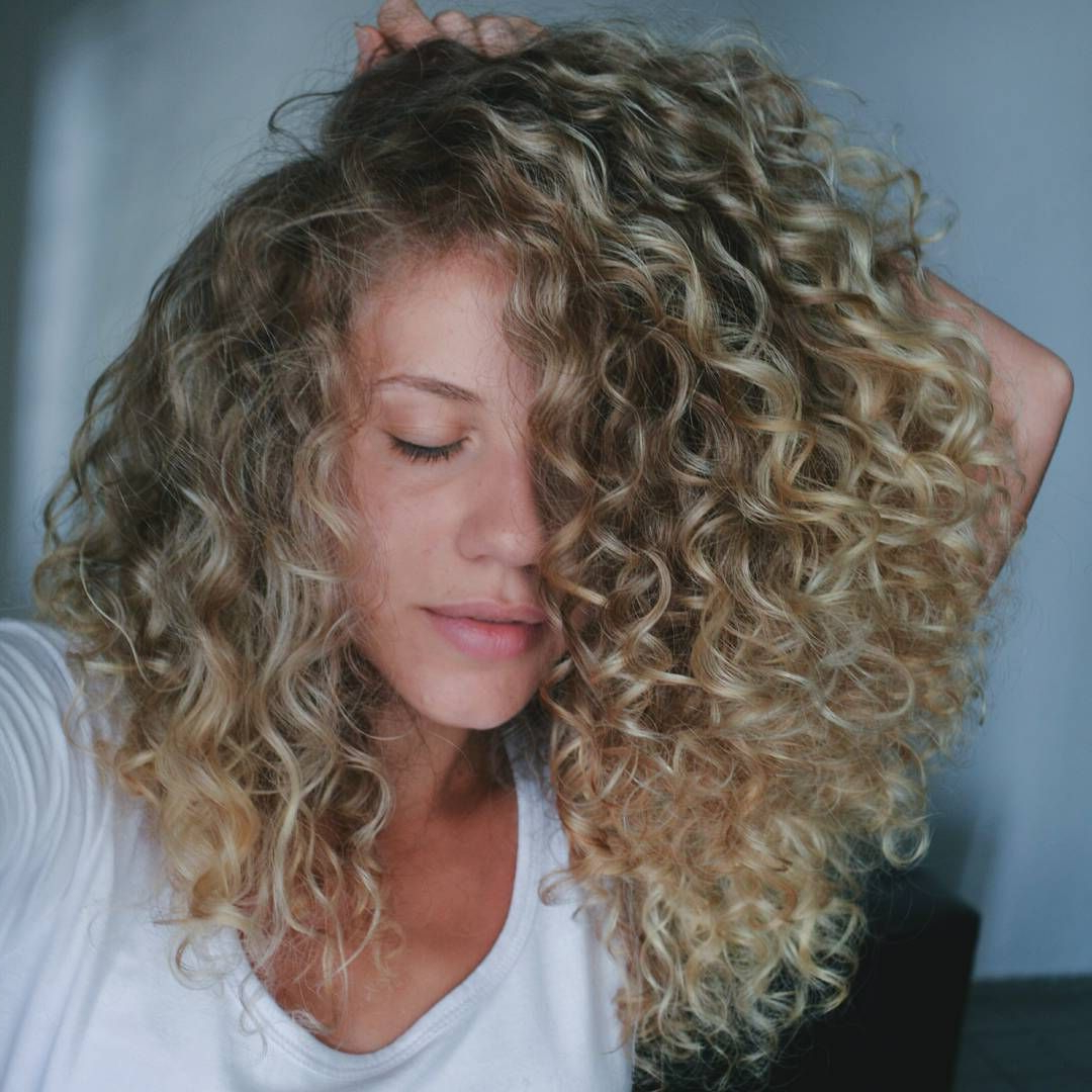 Love The Color And Length | Rock Yo Hair// | Blonde Curly Throughout Curls And Blonde Highlights Hairstyles (View 5 of 20)
