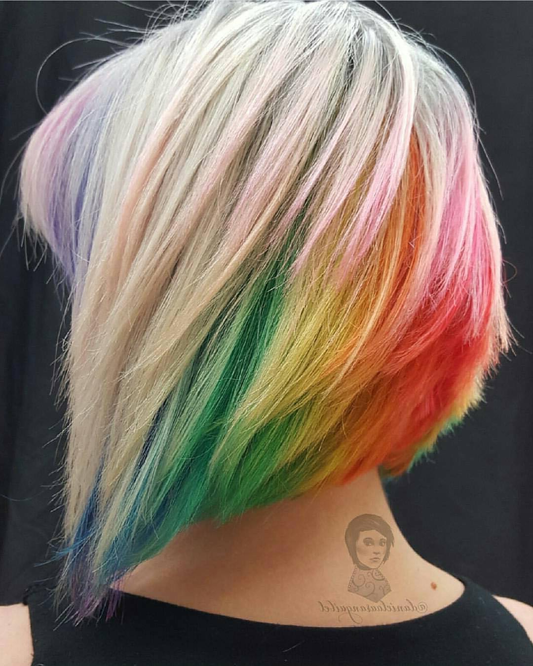 Modern Short Shaggy Bob Hairstyles To Take Over Salons Within Rainbow Bob Haircuts (View 11 of 20)