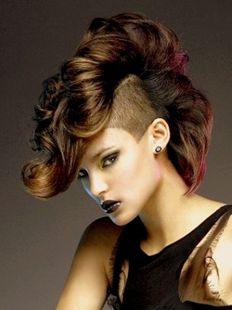 Mohawk Hair Intended For Widely Used Feminine Curly Mohawk Haircuts (View 14 of 20)