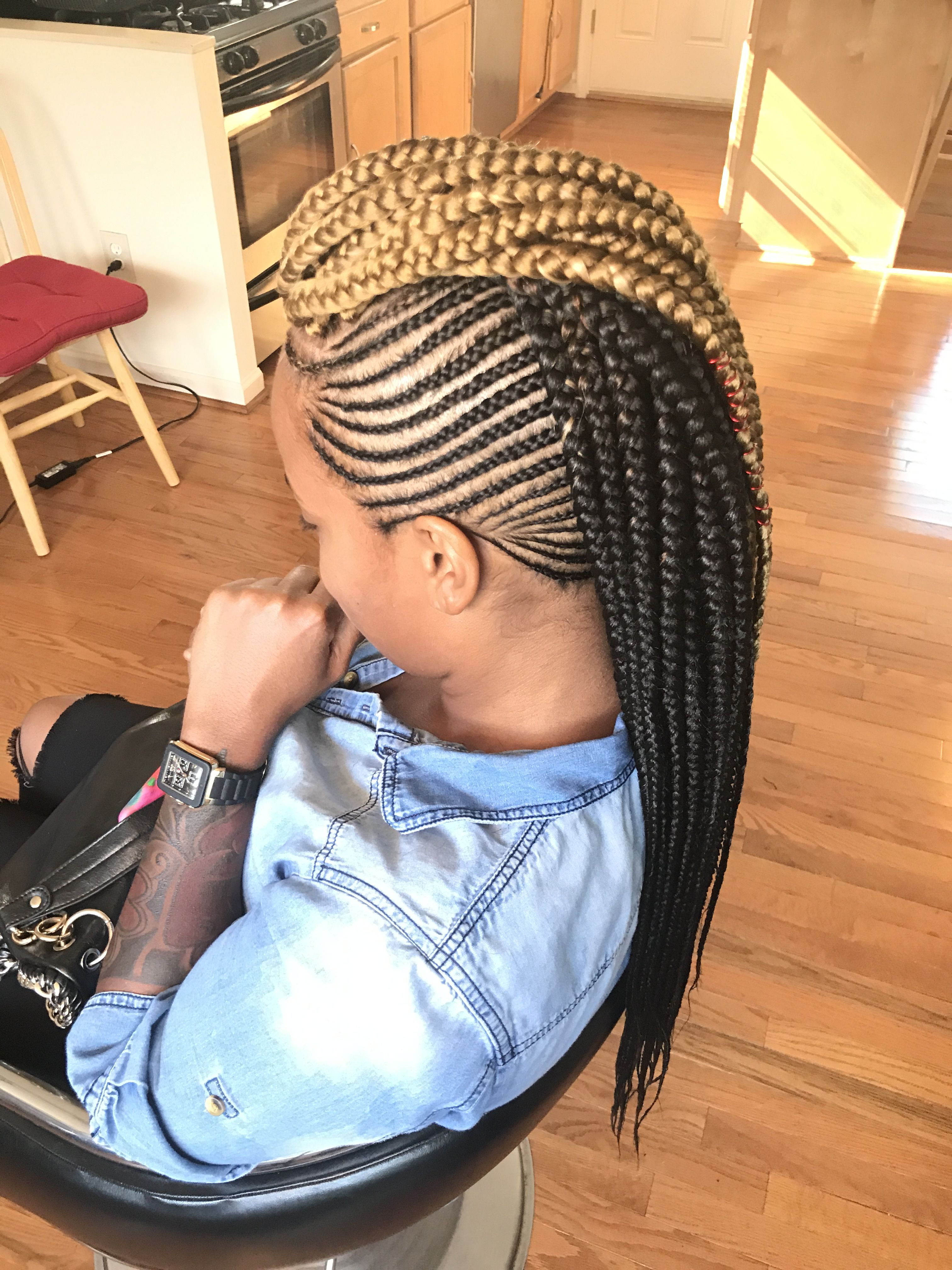 Most Current Big Braid Mohawk Hairstyles Throughout Braid4days (View 7 of 20)