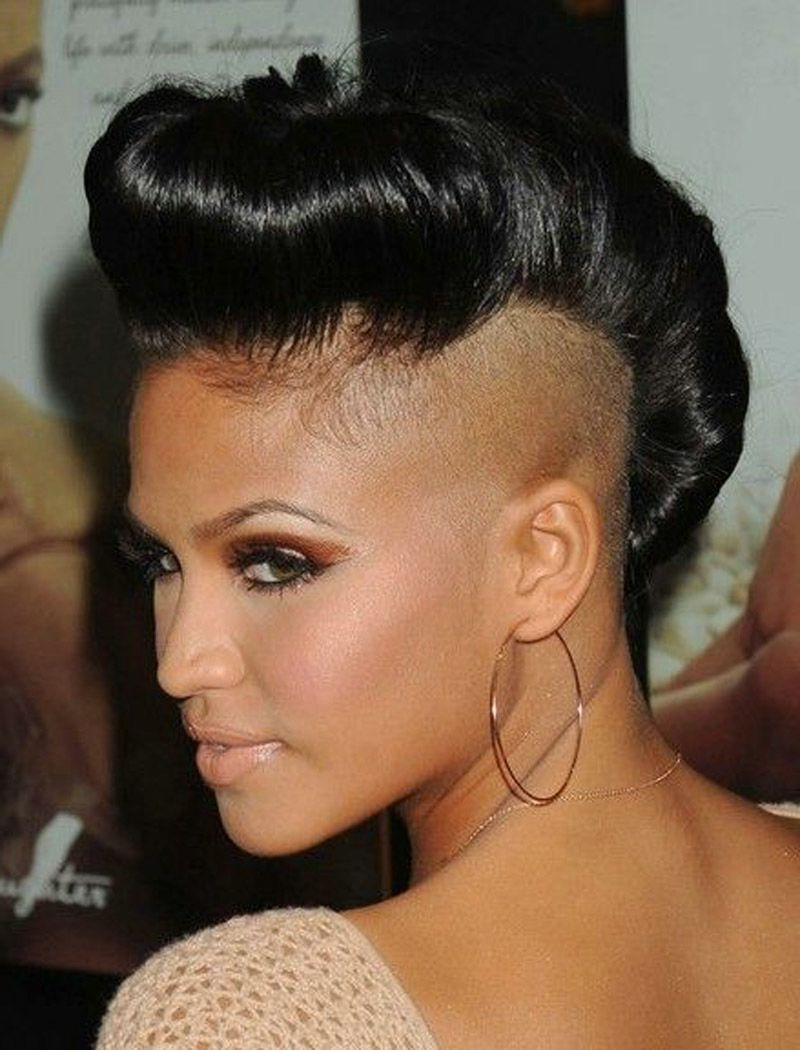 Most Current Cassie Roll Mohawk Hairstyles Throughout Black Shaved Hairstyles – All Hair Style For Womens (View 10 of 20)