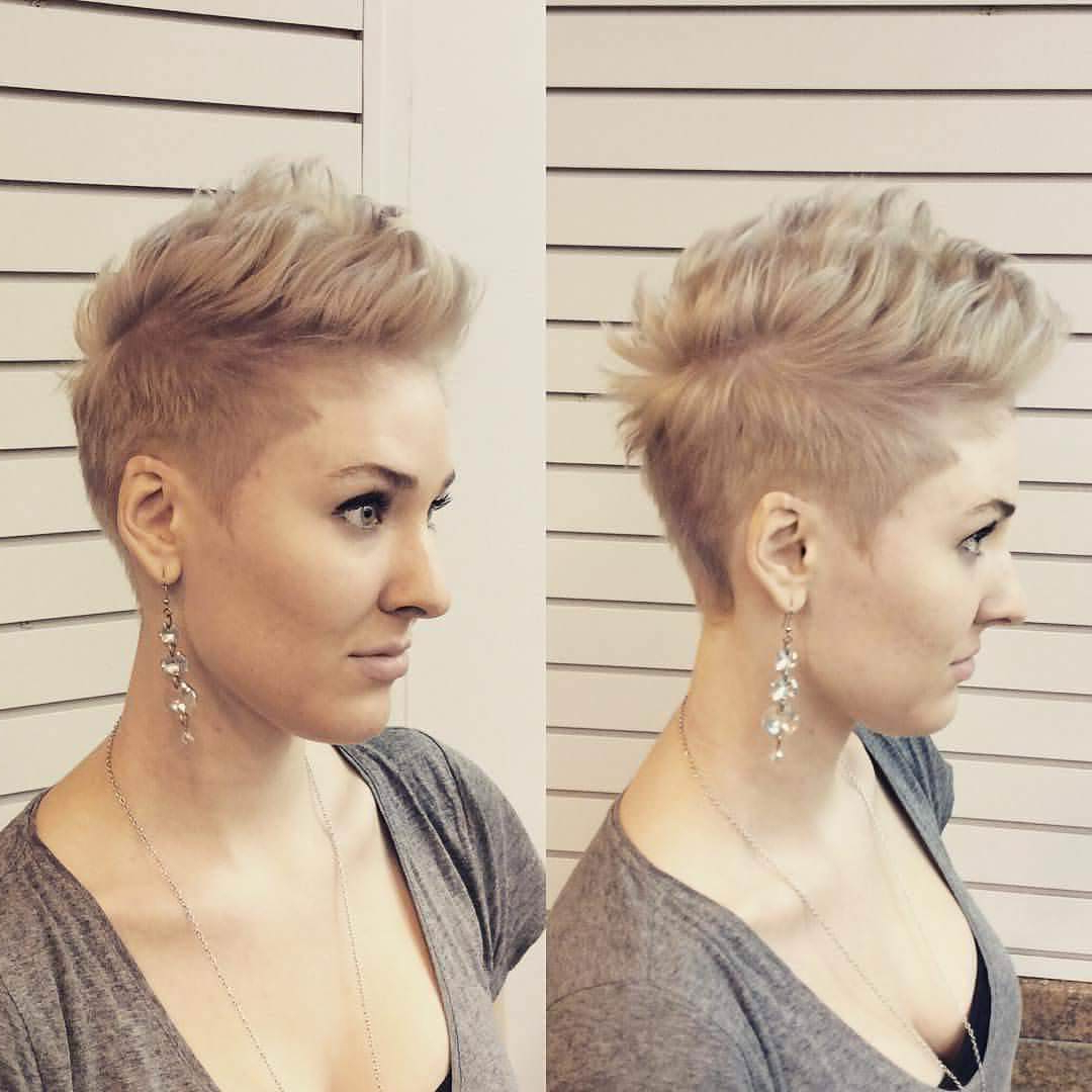 Most Current Classy Faux Mohawk Haircuts For Women With Regard To 25+ Faux Hawk Hairstyle Designs, Ideas (View 13 of 20)