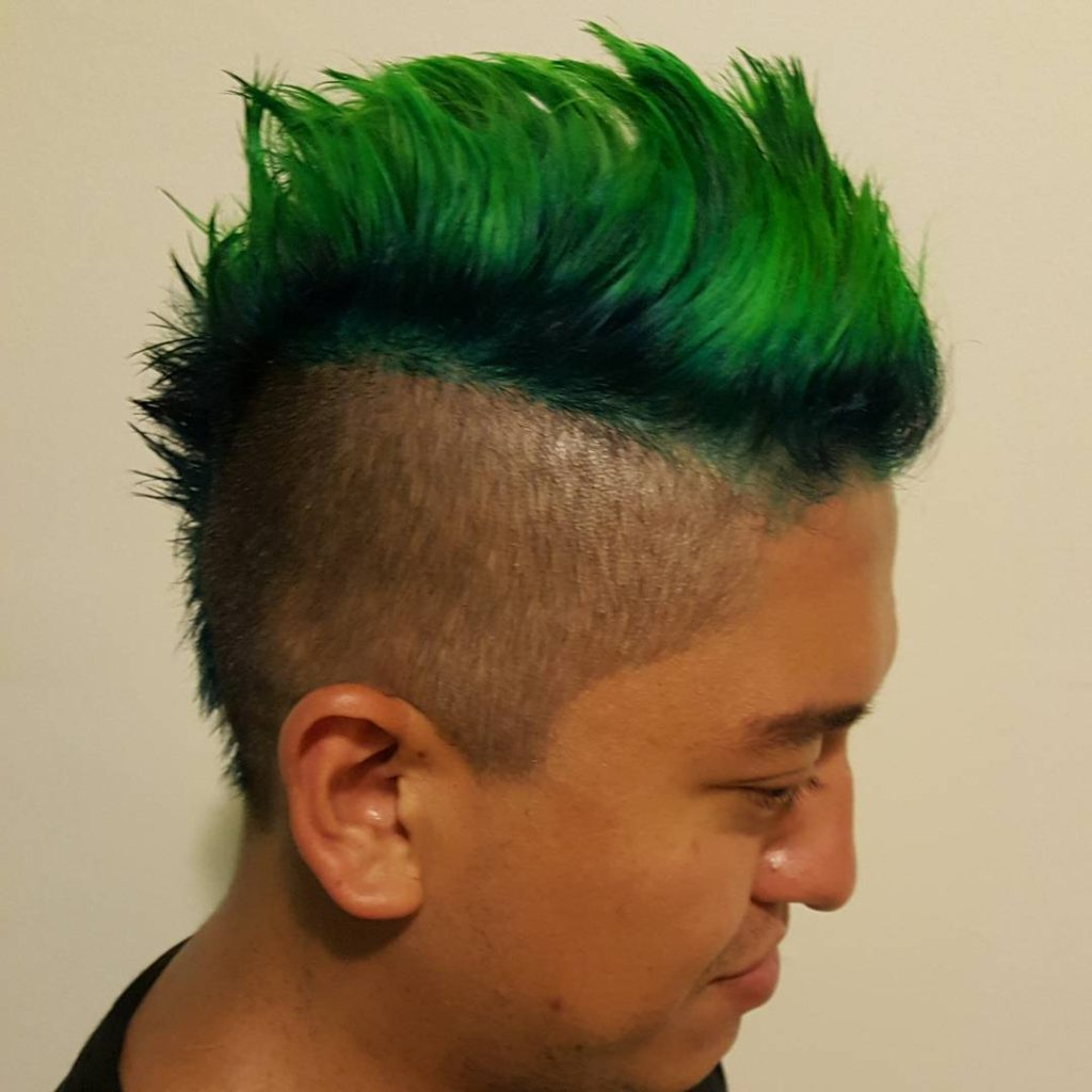 Most Current Shaved And Colored Mohawk Haircuts With Mohawk Hairstyles: 50 Best Haircuts For Men 2018 – Atoz (View 11 of 20)