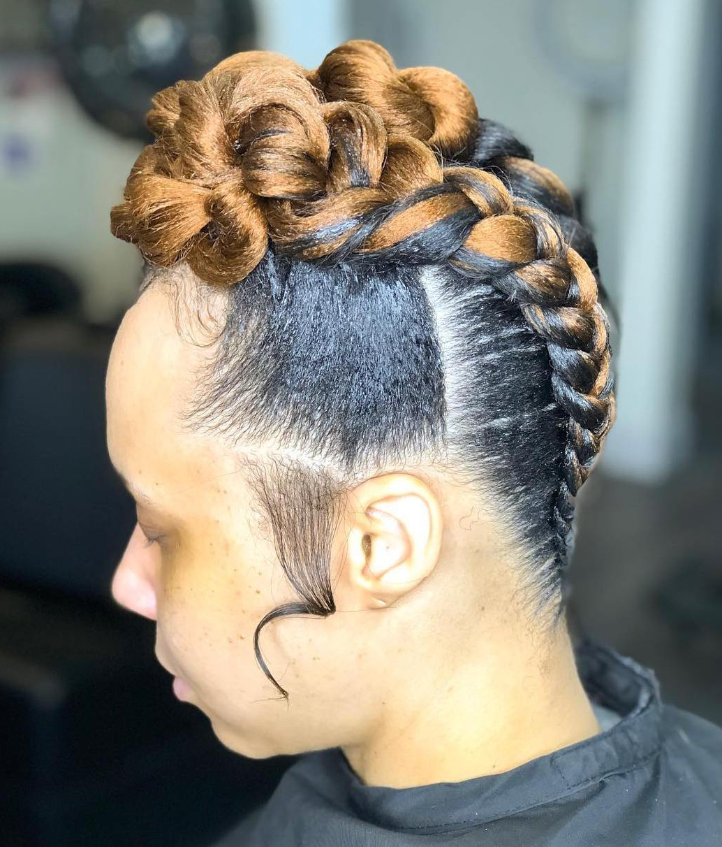 Most Recent Braided Mohawk Bun Hairstyles Pertaining To 45 Classy Natural Hairstyles For Black Girls To Turn Heads (View 19 of 20)