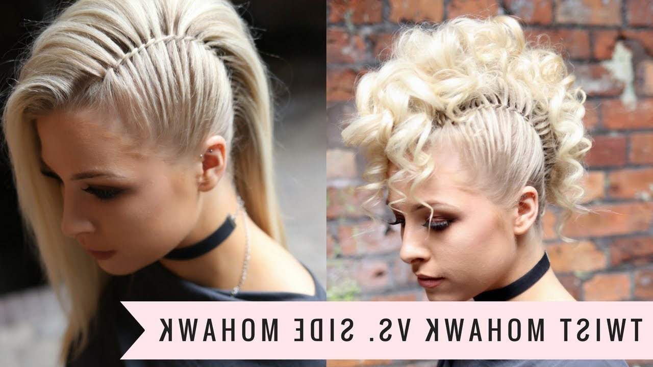 Most Recent Medium Length Blonde Mohawk Hairstyles With Regard To Twist Mohawk Vs (View 10 of 20)