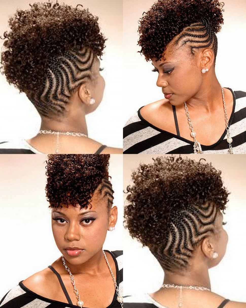 Most Recent Ponytail Mohawk Hairstyles In Fashion : 20 Best Ideas Of Braided Mohawk Haircuts Together (View 14 of 20)