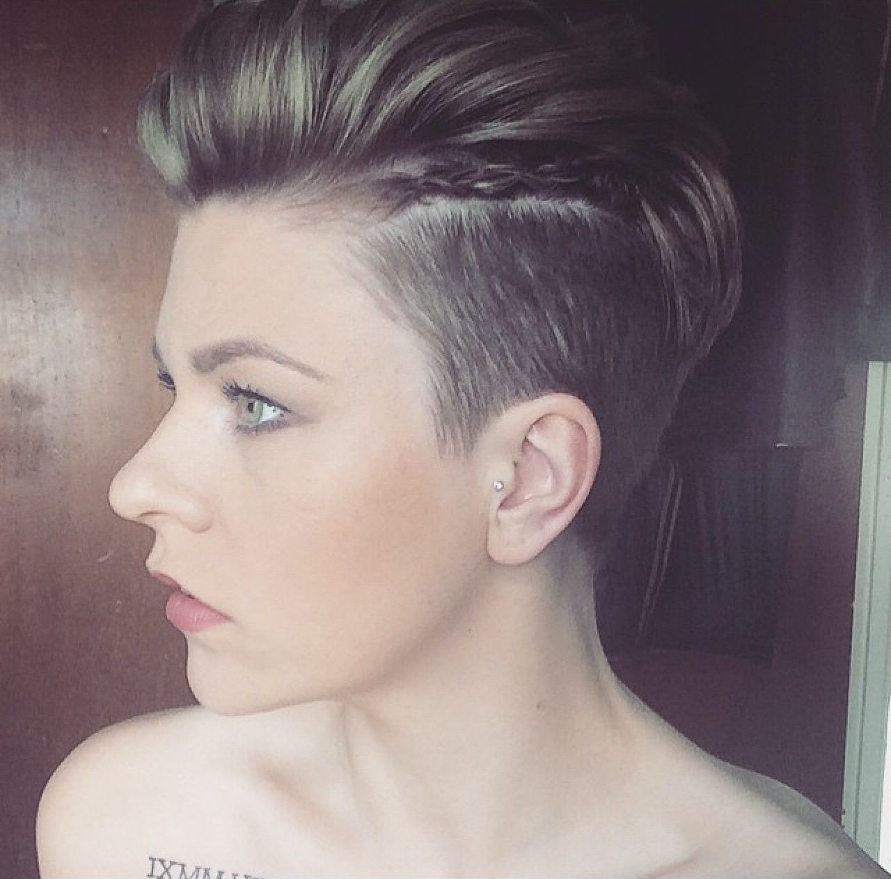Most Recently Released Classy Faux Mohawk Haircuts For Women Intended For Pixie Undercut. Faux Hawk With Braids (View 15 of 20)