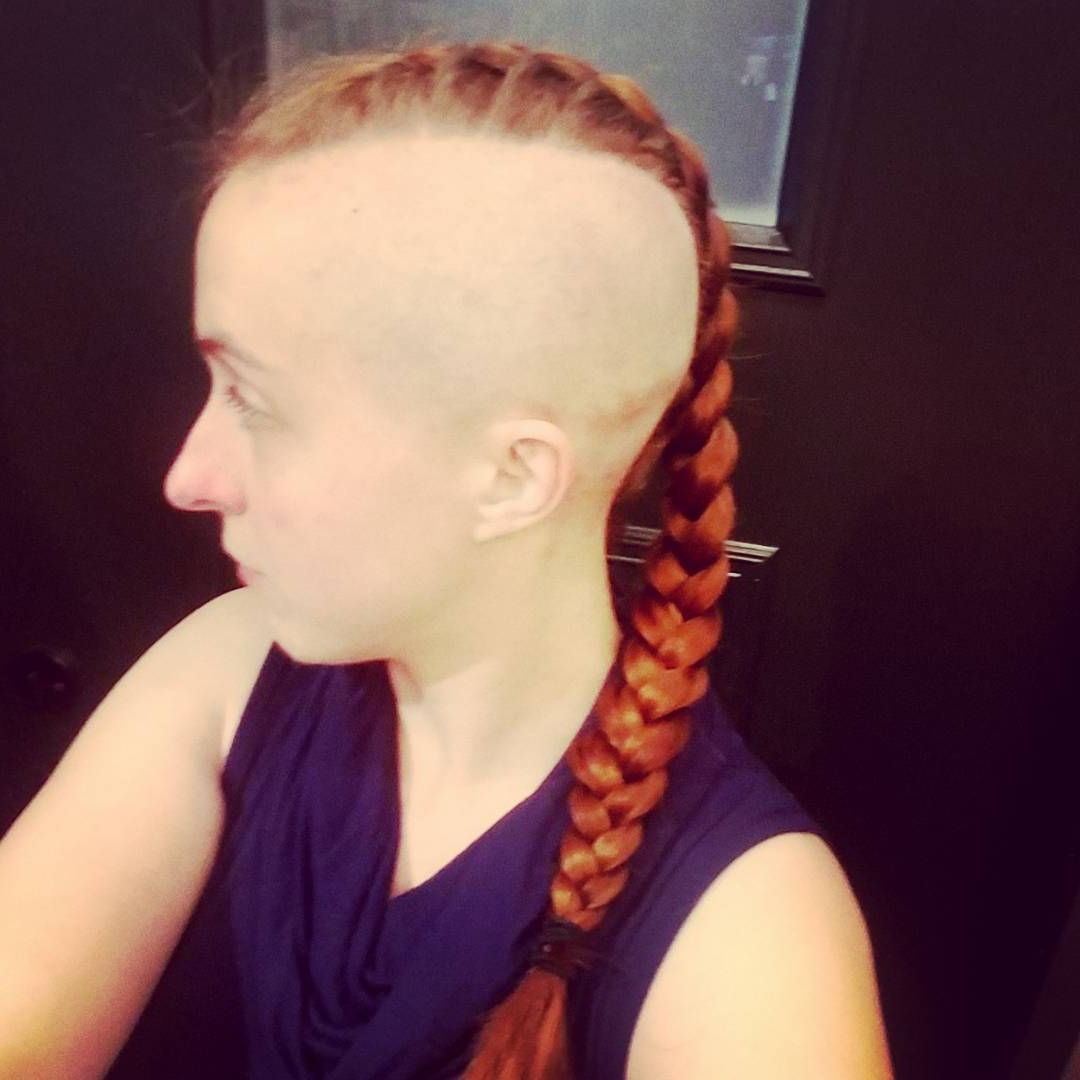Most Recently Released Medium Length Mohawk Hairstyles With Shaved Sides Within Mohawk Girl / Shaved Sides / Braided Mohawk #hairdare #style (View 12 of 20)